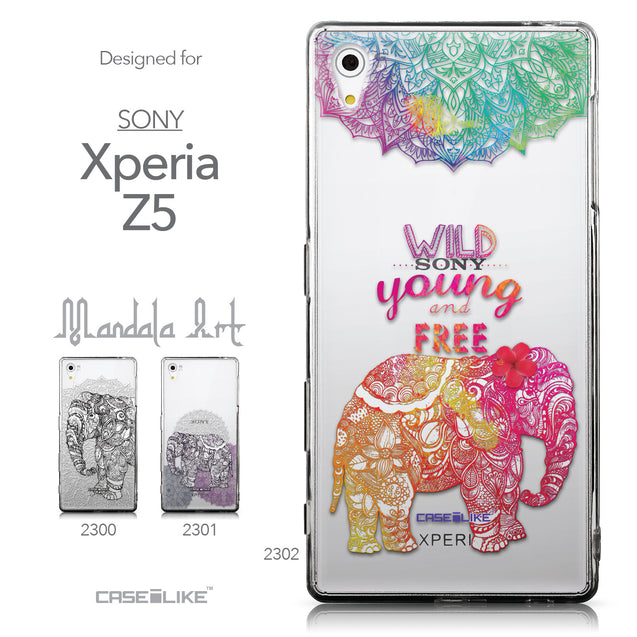 Collection - CASEiLIKE Sony Xperia Z5 back cover Mandala Art 2302