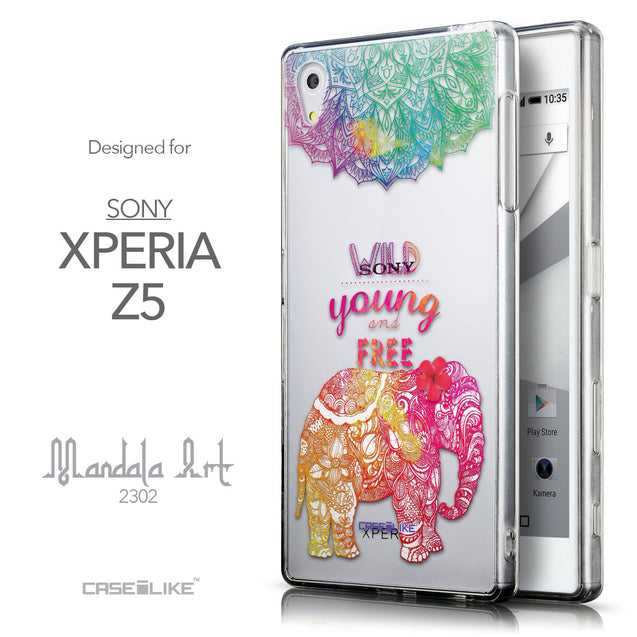 Front & Side View - CASEiLIKE Sony Xperia Z5 back cover Mandala Art 2302