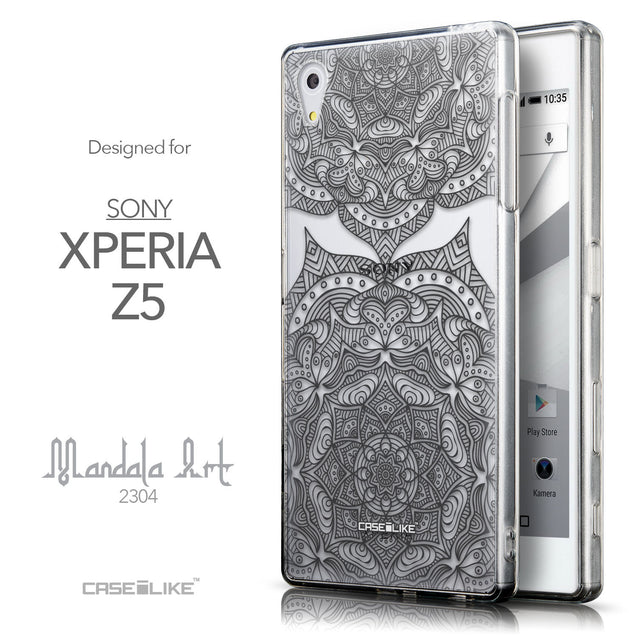 Front & Side View - CASEiLIKE Sony Xperia Z5 back cover Mandala Art 2304