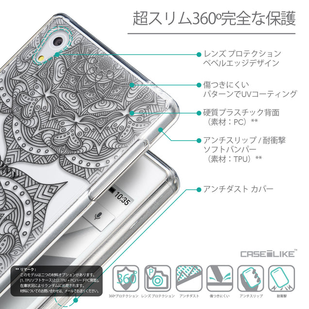 Details in Japanese - CASEiLIKE Sony Xperia Z5 back cover Mandala Art 2304