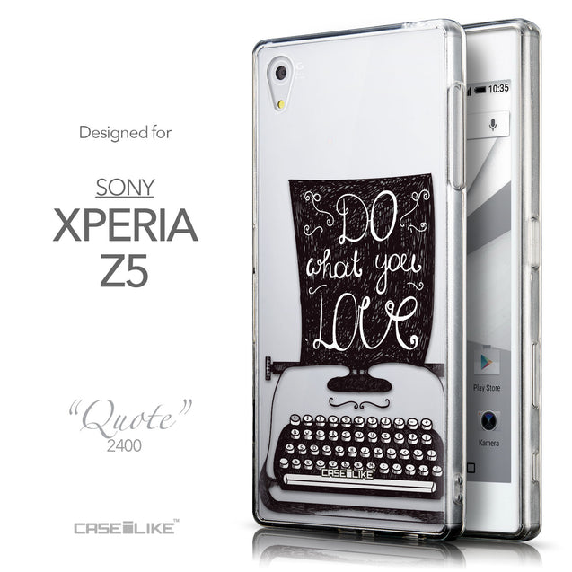 Front & Side View - CASEiLIKE Sony Xperia Z5 back cover Quote 2400
