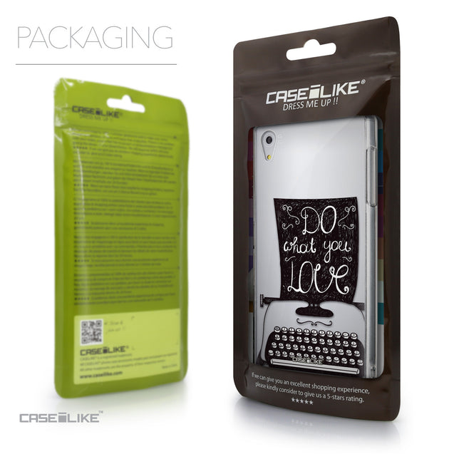 Packaging - CASEiLIKE Sony Xperia Z5 back cover Quote 2400