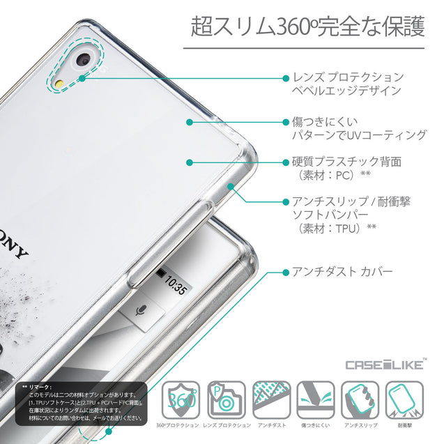 Details in Japanese - CASEiLIKE Sony Xperia Z5 back cover Quote 2402