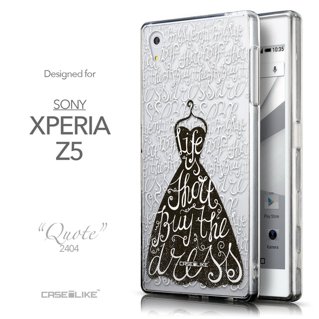 Front & Side View - CASEiLIKE Sony Xperia Z5 back cover Indian Tribal Theme Pattern 2053