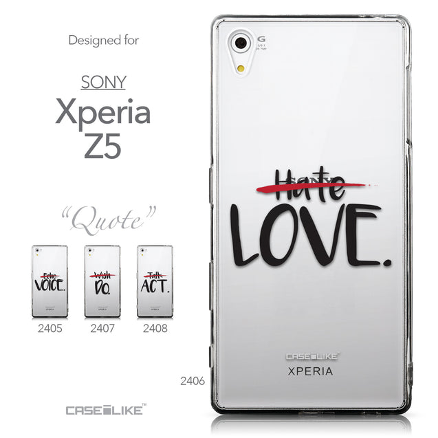 Collection - CASEiLIKE Sony Xperia Z5 back cover Quote 2406