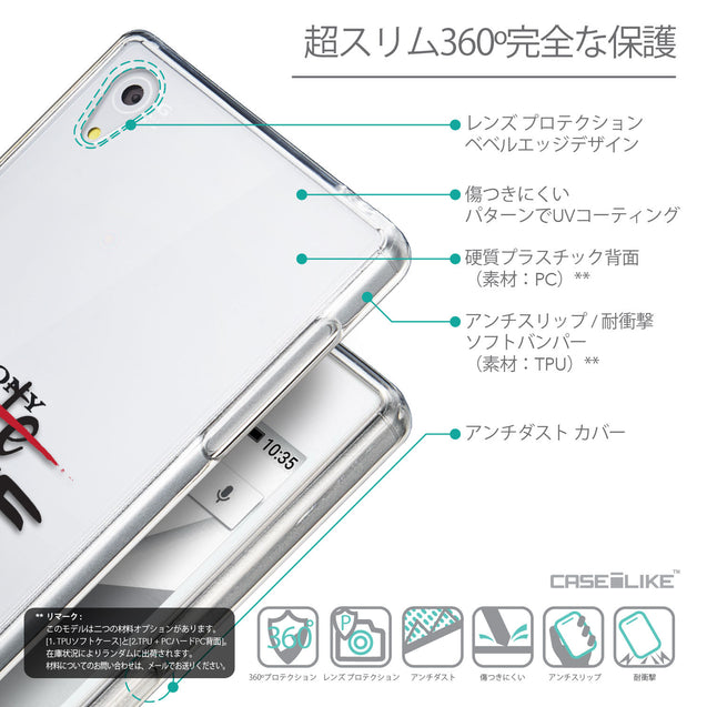 Details in Japanese - CASEiLIKE Sony Xperia Z5 back cover Quote 2406