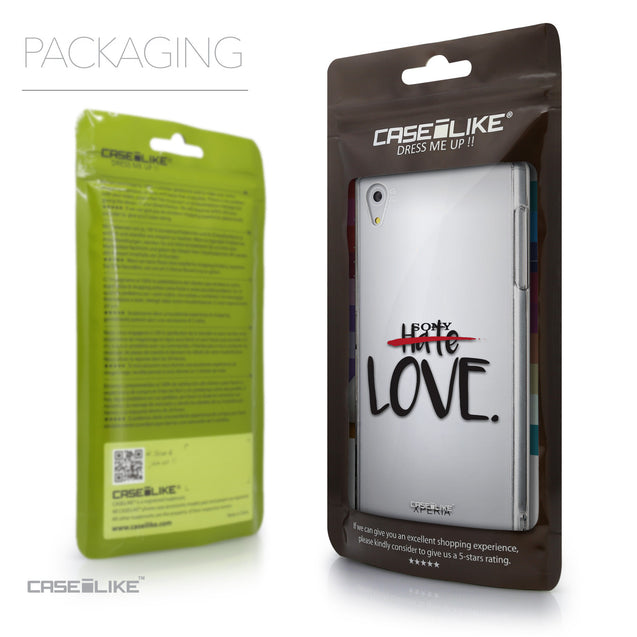 Packaging - CASEiLIKE Sony Xperia Z5 back cover Quote 2406