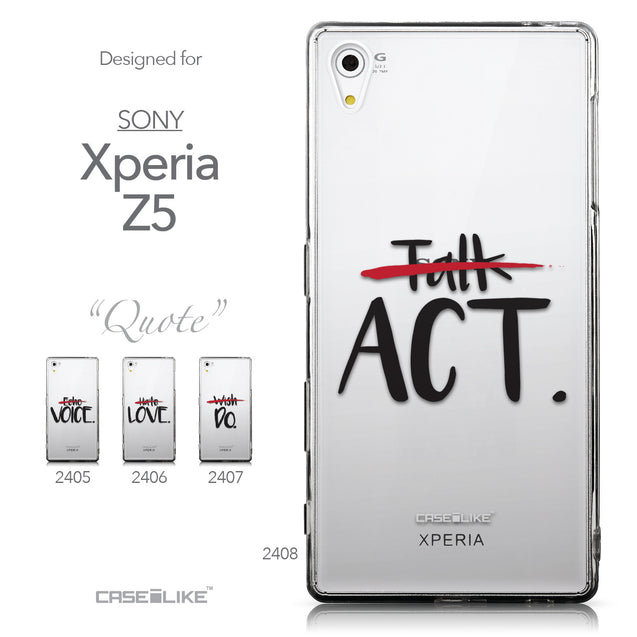 Collection - CASEiLIKE Sony Xperia Z5 back cover Quote 2408