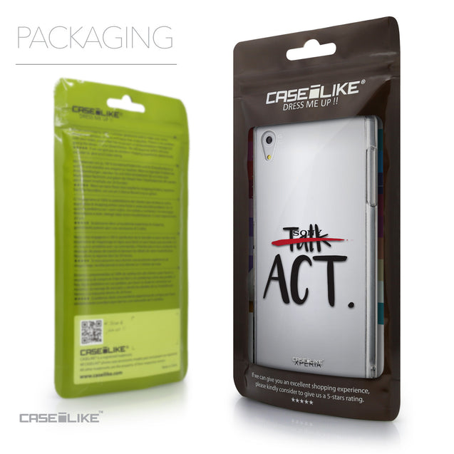 Packaging - CASEiLIKE Sony Xperia Z5 back cover Quote 2408
