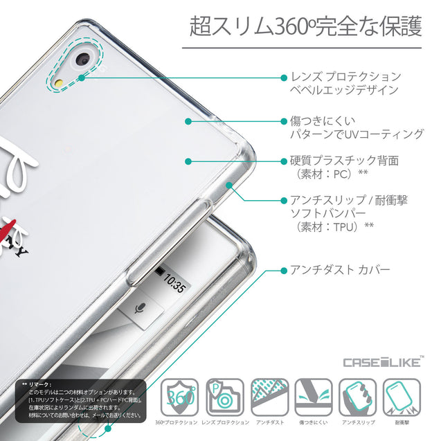 Details in Japanese - CASEiLIKE Sony Xperia Z5 back cover Quote 2409