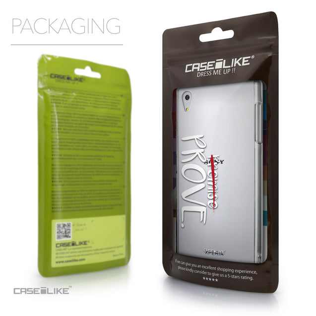 Packaging - CASEiLIKE Sony Xperia Z5 back cover Quote 2409