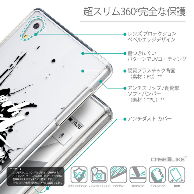 Details in Japanese - CASEiLIKE Sony Xperia Z5 back cover Quote 2414