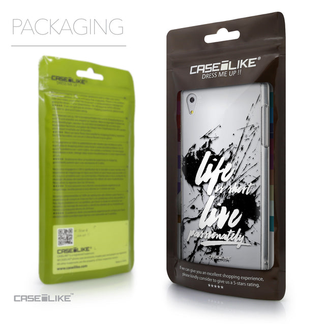 Packaging - CASEiLIKE Sony Xperia Z5 back cover Quote 2416