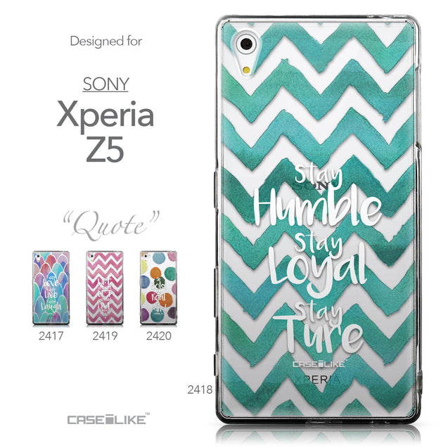 Collection - CASEiLIKE Sony Xperia Z5 back cover Quote 2418