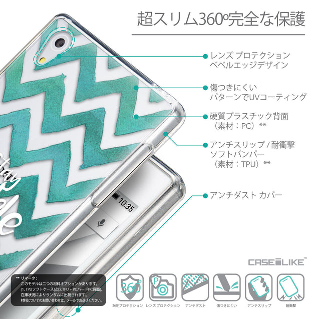 Details in Japanese - CASEiLIKE Sony Xperia Z5 back cover Quote 2418