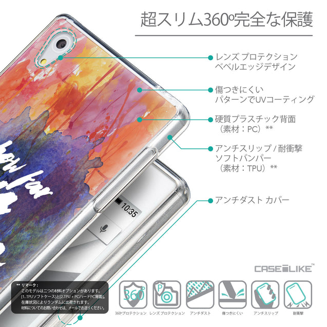 Details in Japanese - CASEiLIKE Sony Xperia Z5 back cover Quote 2421