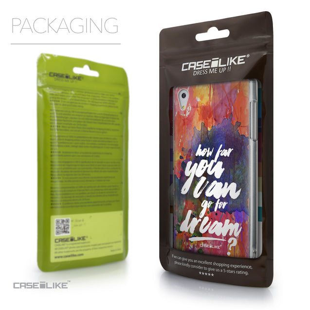 Packaging - CASEiLIKE Sony Xperia Z5 back cover Quote 2421