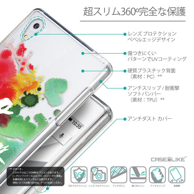Details in Japanese - CASEiLIKE Sony Xperia Z5 back cover Quote 2424