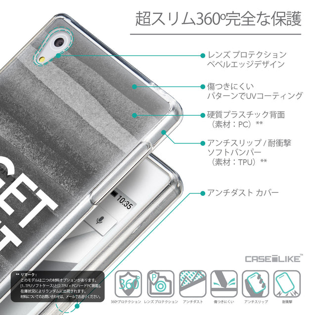 Details in Japanese - CASEiLIKE Sony Xperia Z5 back cover Quote 2429