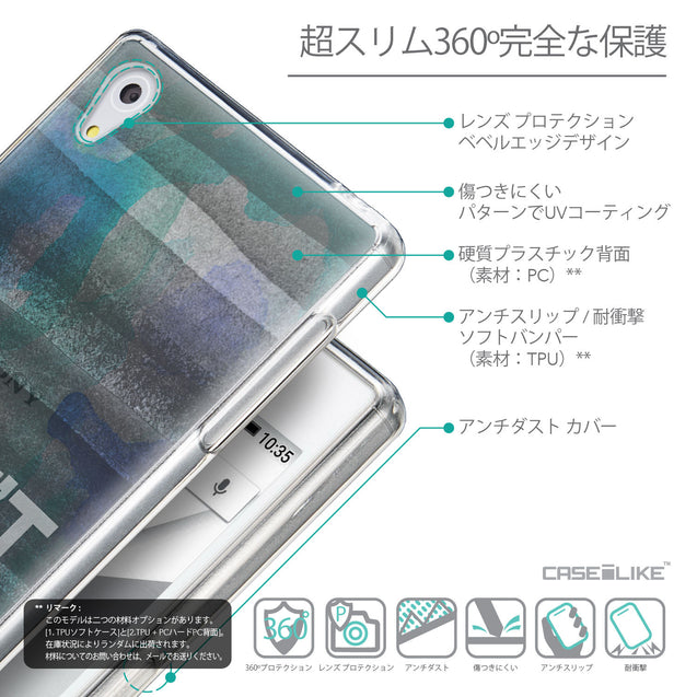 Details in Japanese - CASEiLIKE Sony Xperia Z5 back cover Quote 2431