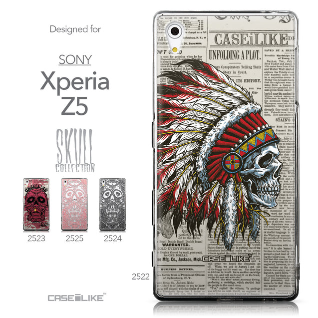 Collection - CASEiLIKE Sony Xperia Z5 back cover Art of Skull 2522