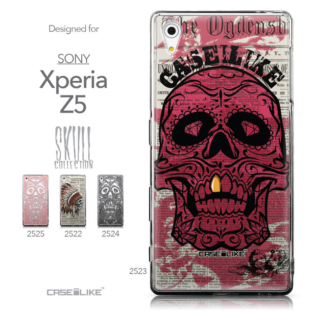 Collection - CASEiLIKE Sony Xperia Z5 back cover Art of Skull 2523