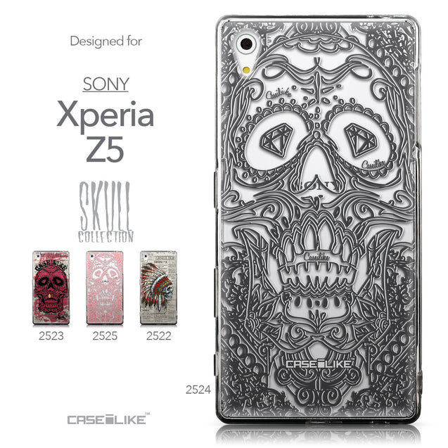 Collection - CASEiLIKE Sony Xperia Z5 back cover Art of Skull 2524