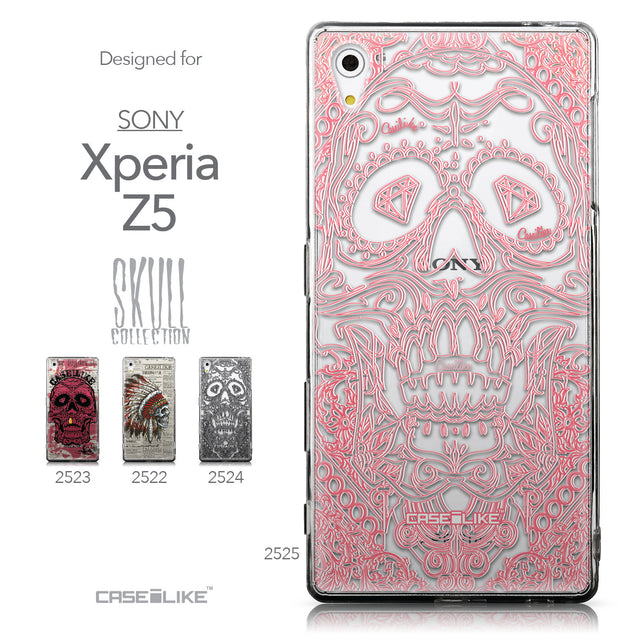 Collection - CASEiLIKE Sony Xperia Z5 back cover Art of Skull 2525