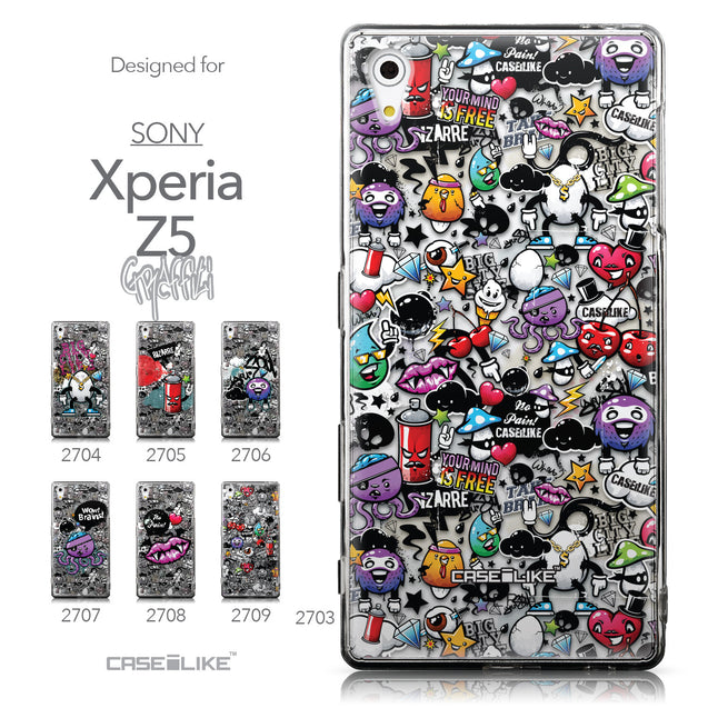 Collection - CASEiLIKE Sony Xperia Z5 back cover Graffiti 2703