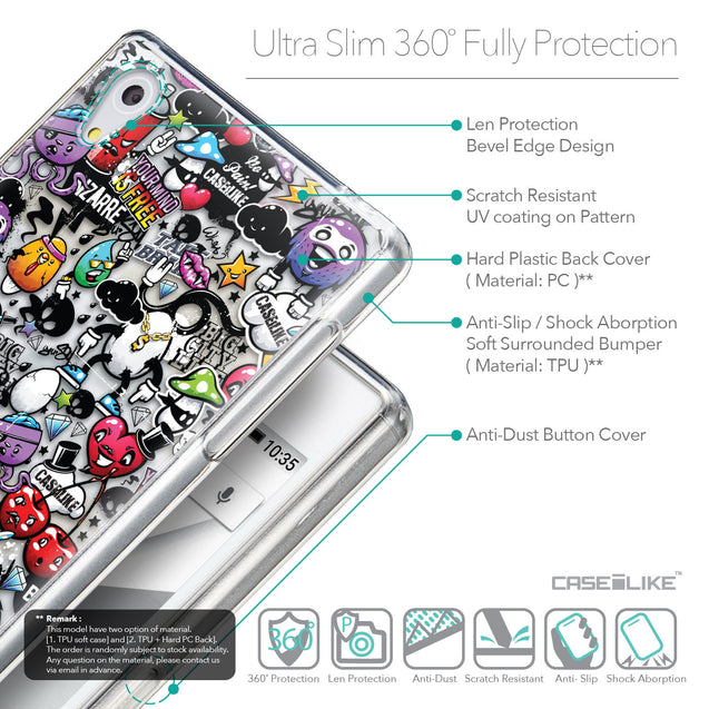 Details in English - CASEiLIKE Sony Xperia Z5 back cover Graffiti 2703