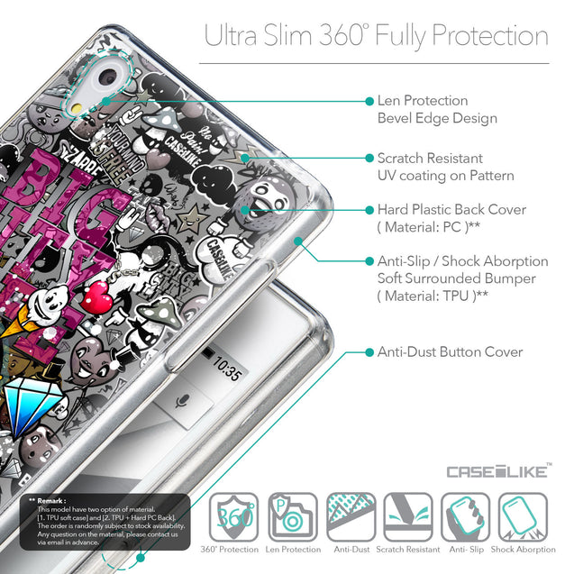 Details in English - CASEiLIKE Sony Xperia Z5 back cover Graffiti 2704