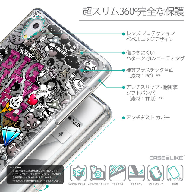 Details in Japanese - CASEiLIKE Sony Xperia Z5 back cover Graffiti 2704