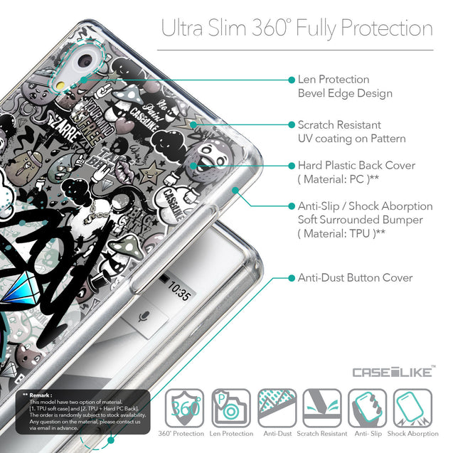 Details in English - CASEiLIKE Sony Xperia Z5 back cover Graffiti 2706