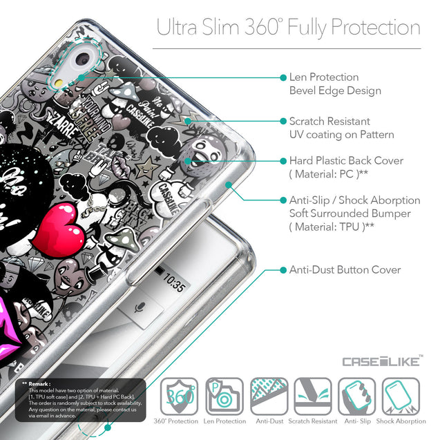 Details in English - CASEiLIKE Sony Xperia Z5 back cover Graffiti 2708