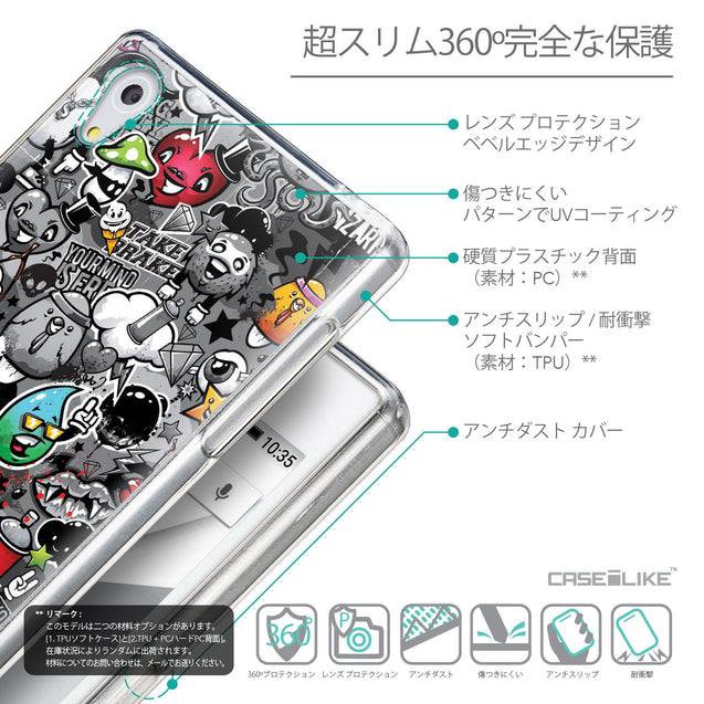 Details in Japanese - CASEiLIKE Sony Xperia Z5 back cover Graffiti 2709