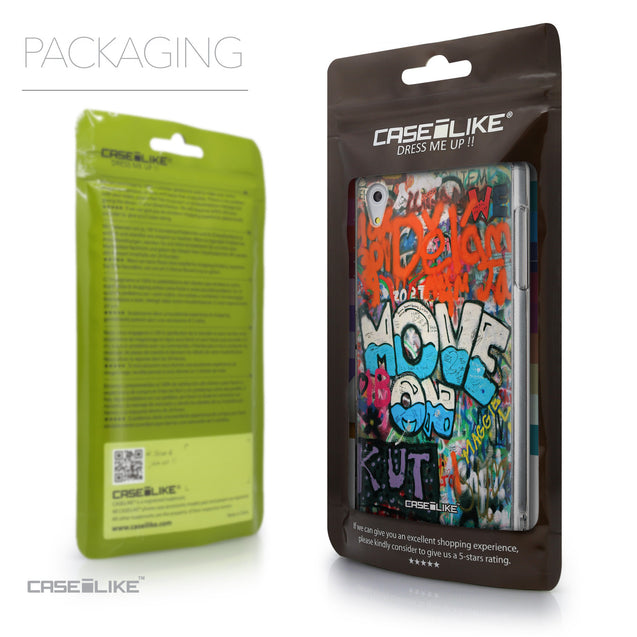 Packaging - CASEiLIKE Sony Xperia Z5 back cover Graffiti 2722