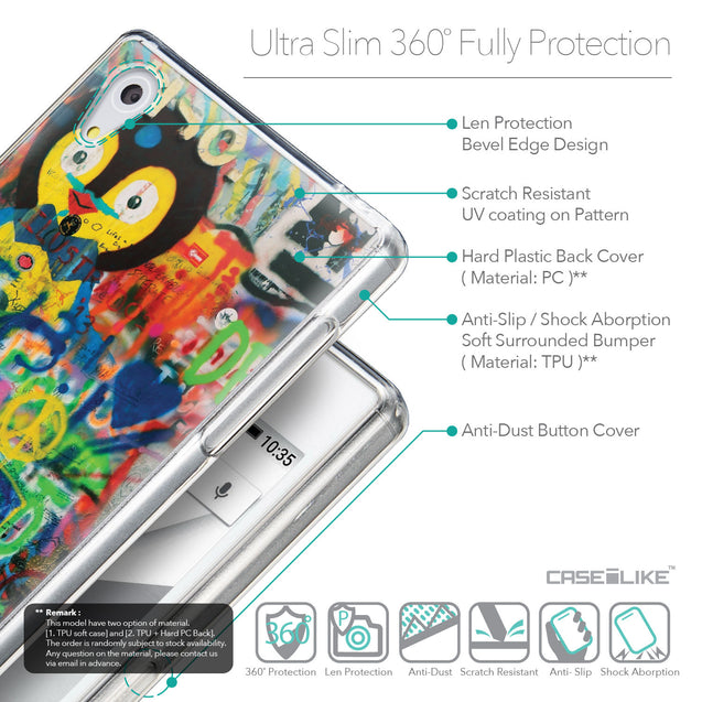 Details in English - CASEiLIKE Sony Xperia Z5 back cover Graffiti 2723