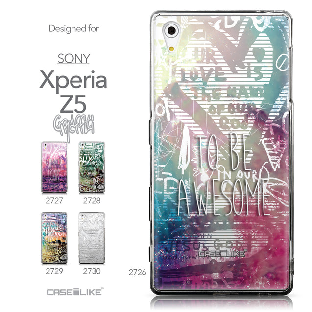 Collection - CASEiLIKE Sony Xperia Z5 back cover Graffiti 2726