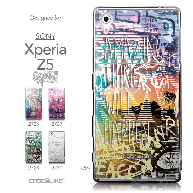 Collection - CASEiLIKE Sony Xperia Z5 back cover Graffiti 2729