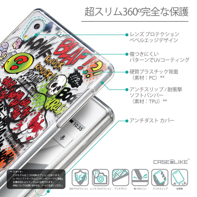 Details in Japanese - CASEiLIKE Sony Xperia Z5 back cover Comic Captions 2914