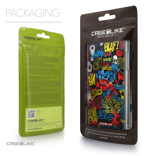 Packaging - CASEiLIKE Sony Xperia Z5 back cover Comic Captions Black 2915