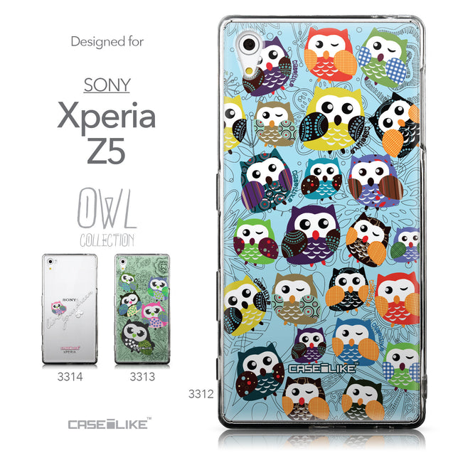 Collection - CASEiLIKE Sony Xperia Z5 back cover Owl Graphic Design 3312