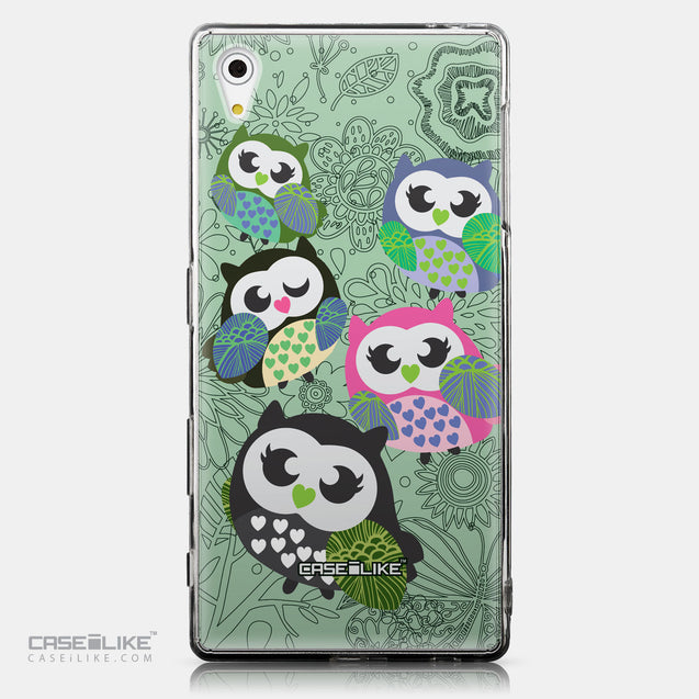 CASEiLIKE Sony Xperia Z5 back cover Owl Graphic Design 3313