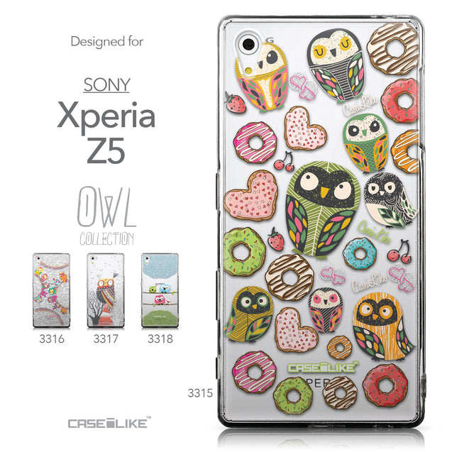 Collection - CASEiLIKE Sony Xperia Z5 back cover Owl Graphic Design 3315