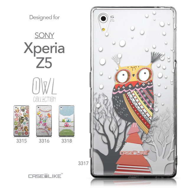 Collection - CASEiLIKE Sony Xperia Z5 back cover Owl Graphic Design 3317