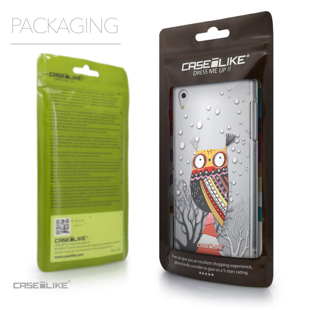 Packaging - CASEiLIKE Sony Xperia Z5 back cover Owl Graphic Design 3317