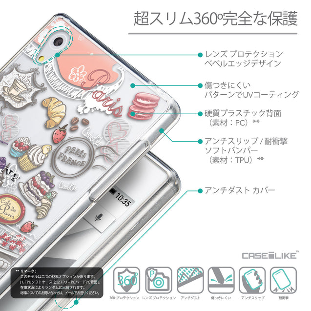 Details in Japanese - CASEiLIKE Sony Xperia Z5 back cover Paris Holiday 3907