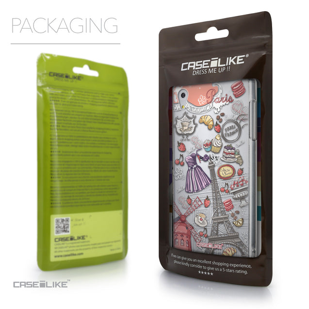 Packaging - CASEiLIKE Sony Xperia Z5 back cover Paris Holiday 3907