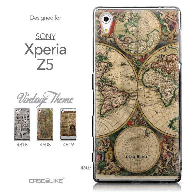 Collection - CASEiLIKE Sony Xperia Z5 back cover World Map Vintage 4607