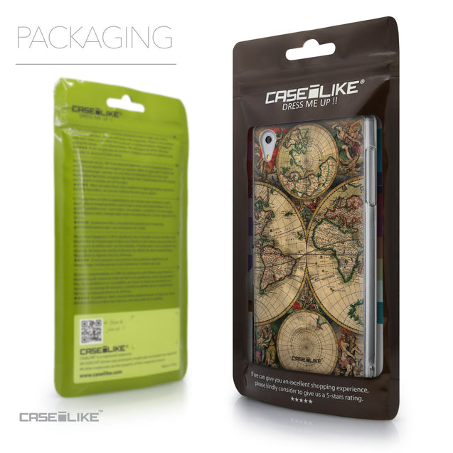 Packaging - CASEiLIKE Sony Xperia Z5 back cover World Map Vintage 4607